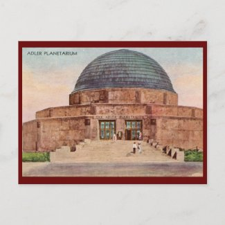 Adler Planetarium, Chicago 1933 Vintage postcard