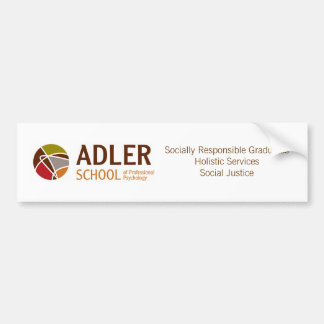 Adler School Bumper Sticker 4