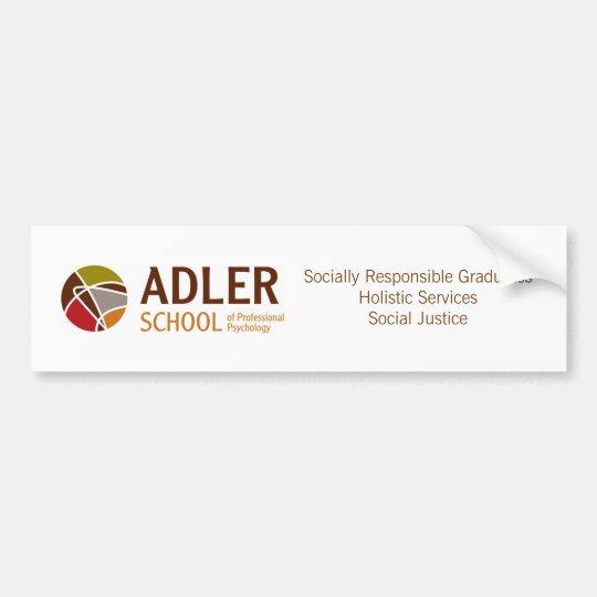 Adler School Bumper Sticker 4