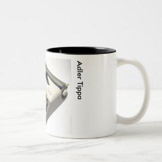 Adler Tippa portable typewriter Two-Tone Coffee Mug