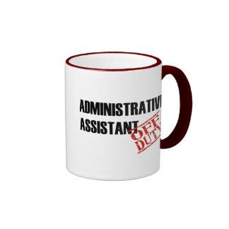 Admin Assist Off Duty Ringer Mug