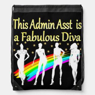 ADMIN ASST IS A FABULOUS DIVA DRAWSTRING BAG
