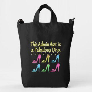ADMIN ASST SHOE LOVER DESIGN DUCK BAG