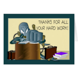 Admin Pro - Thank You For Hard Work Card