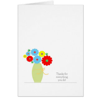 Admin Professionals Day Card, Colorful flowers