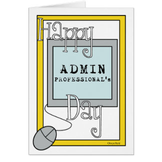 Admin Professionals Day with Computer Greeting Card