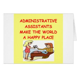 adminiatrative assistants cards
