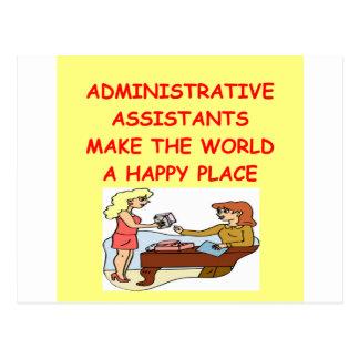 adminiatrative assistants post card