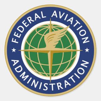 Administración Federal de Aviación de FAA Pegatinas Redondas