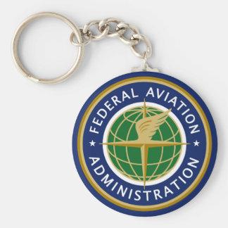 Administración Federal de Aviación FAA Llavero Redondo Tipo Pin