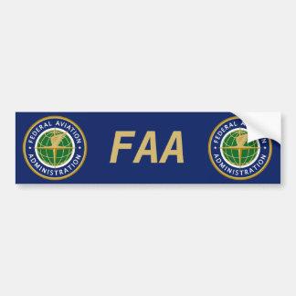 Administración Federal de Aviación FAA Pegatina Para Auto