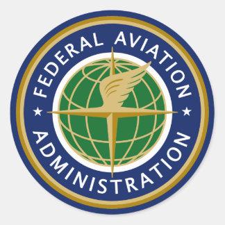 Administración Federal de Aviación FAA Pegatina Redonda