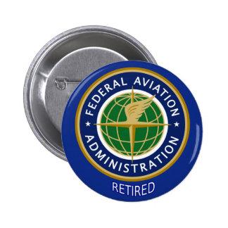 Administración Federal de Aviación jubilada Pin Redondo De 2 Pulgadas