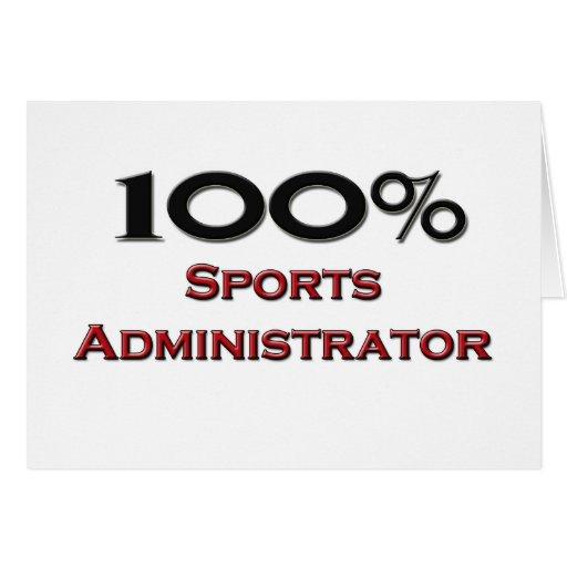 Administrador de 100 deportes del por ciento tarjeton