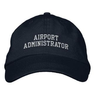 Administrador de aeropuerto gorra de beisbol bordada