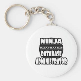 Administrador de base de datos de Ninja Llavero Redondo Tipo Pin