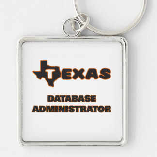 Administrador de base de datos de Tejas Llavero Cuadrado Plateado