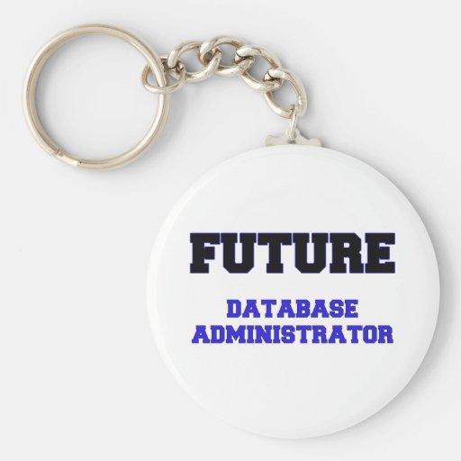 Administrador de base de datos futuro llaveros personalizados