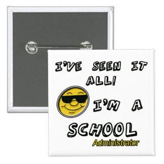 Administrador de escuela pin cuadrado