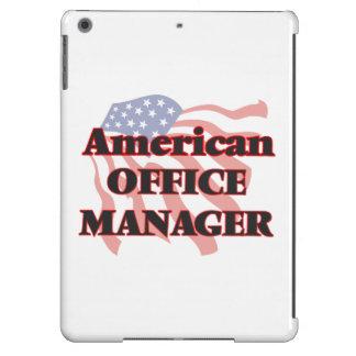 Administrador de oficinas americano funda para iPad air
