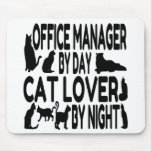 Administrador de oficinas del amante del gato tapetes de ratón
