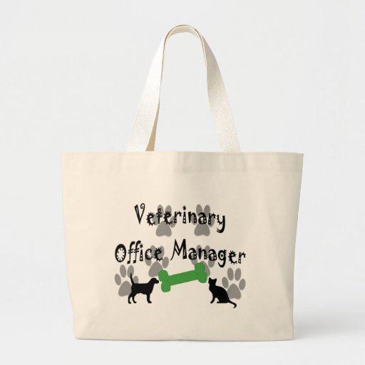 Administrador de oficinas veterinario bolsa tela grande