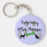 Administrador de oficinas veterinario llavero