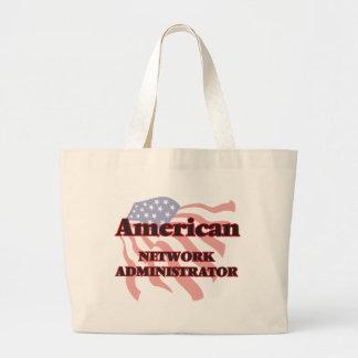 Administrador de red americana bolsa tela grande