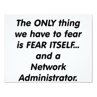 """administrador de red del miedo invitación 4.25"""" x 5.5"""""""