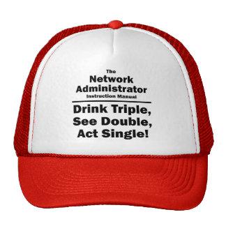 administrador de red gorras de camionero