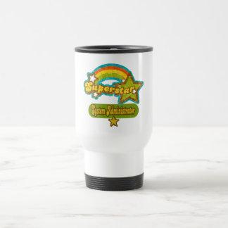 Administrador de sistema de la superestrella taza de café
