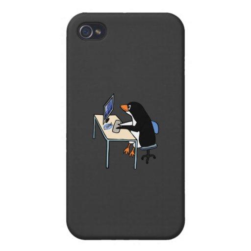 administrador de sistema del tux del pingüino iPhone 4/4S funda