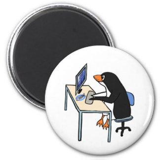 administrador de sistema del tux del pingüino imán para frigorífico