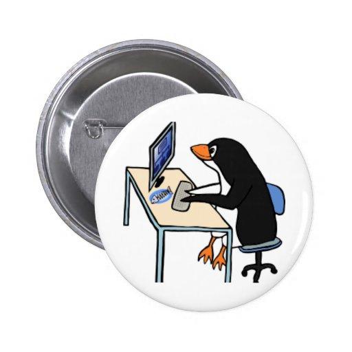 administrador de sistema del tux del pingüino pins