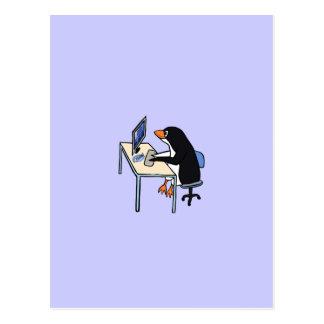 administrador de sistema del tux del pingüino postal
