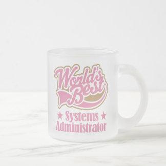 Administrador de sistemas taza de cristal