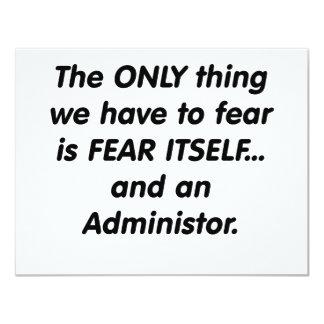 administrador del miedo comunicado personalizado