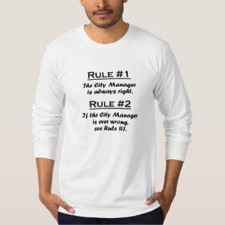 Administrador municipal de la regla remera