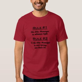 Administrador municipal de la regla remeras