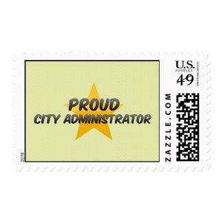 Administrador municipal orgulloso sellos