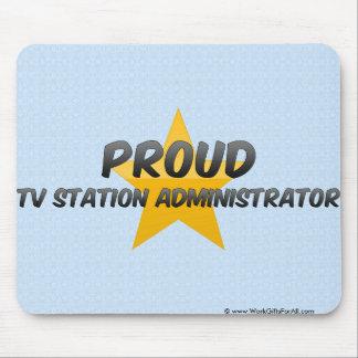 Administrador orgulloso del canal de televisión tapetes de raton