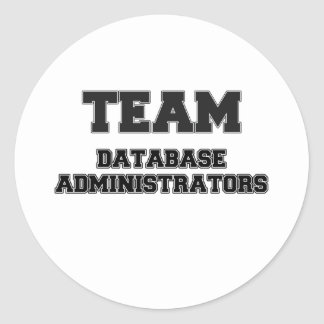Administradores de base de datos del equipo pegatina redonda