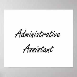 Administrative Assistant Artistic Job Design Poster