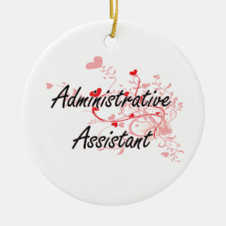 Administrative Assistant Artistic Job Design with Ceramic Ornament