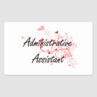Administrative Assistant Artistic Job Design with Rectangular Sticker