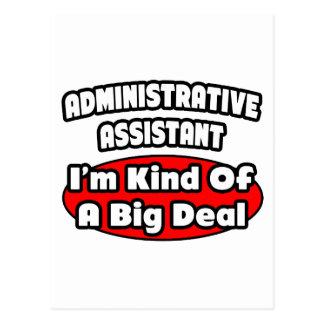Administrative Assistant...Big Deal Postcard