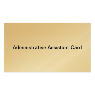 Administrative Assistant card Double-Sided Standard Business Cards (Pack Of 100)