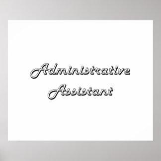 Administrative Assistant Classic Job Design Poster