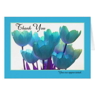 Administrative Assistant Day Card -- Blue Tulips