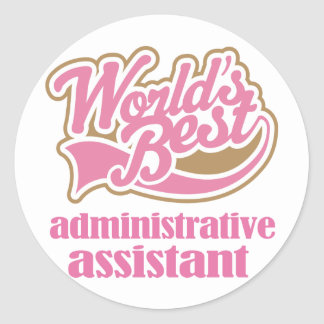 Administrative Assistant Gift Classic Round Sticker